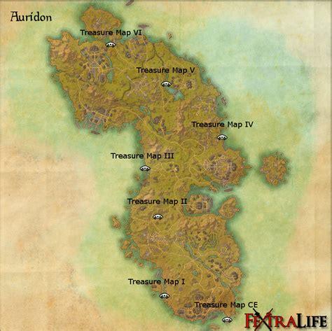 map vi auridon treasure map vi elder scrolls wiki
