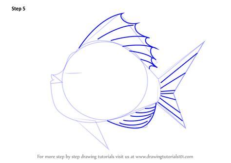 learn   draw goldfish  tank animals  kids step