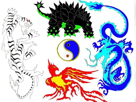 Earth Wall Mural the four guardians of kyoto by rendragonclaw on deviantart
