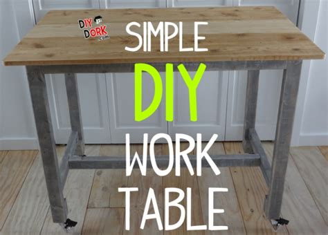 build  simple  cost work table  reclaimed