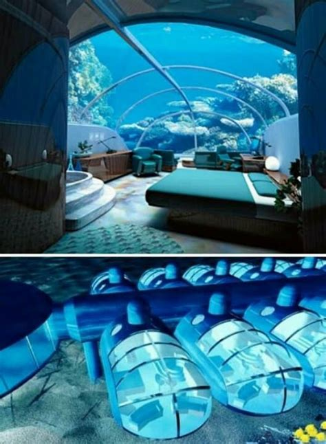 Underwater Bedroom Hotel Maldives Luxury At Par Underwater Bedrooms