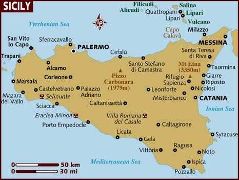 map of sicily italy map of sicily