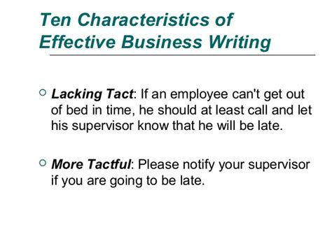 business letters characteristics ten characteristics of effective business writing