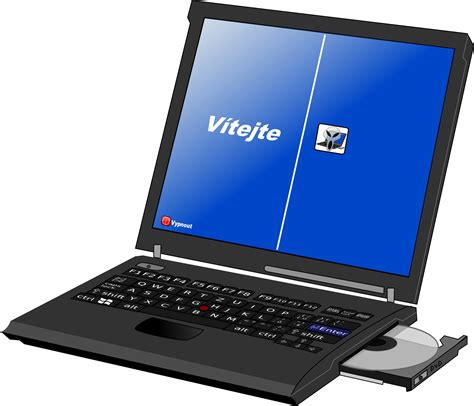 laptop with clipart laptop with disc drive