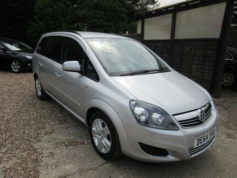 vauxhall silver used silver vauxhall zafira for sale surrey