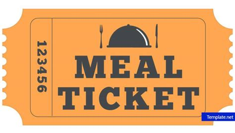 Lunch Ticket Template by 14 Meal Ticket Designs Templates Psd Ai Word Pdf