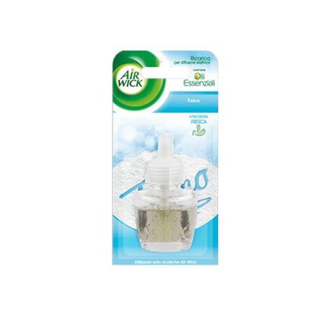 candele air wick air wick diffusore elettrico per ambienti ricarica talco