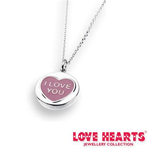Engraved Love Hearts Sterling Silver Pendant, Free Engraving
