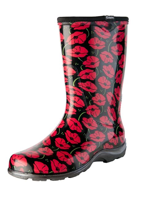 most comfortable rain boots for women sloggers made in the usa women s rain boots red poppies