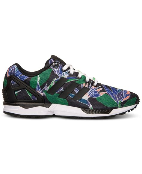 adidas floral sneakers lyst adidas s zx flux floral print casual sneakers