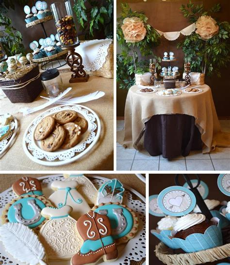 Kara's Party Ideas Shabby Chic Western Wedding Shower with