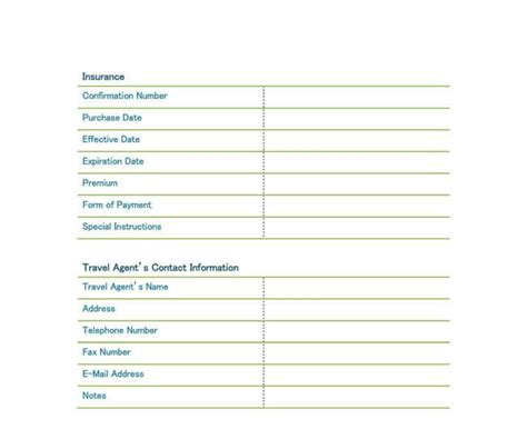 travel itinerary planner template 5 travel itinerary templates for excel and word