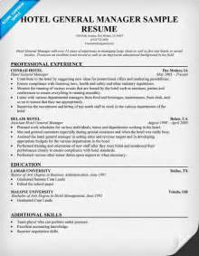 General Resume Sample Templates by Hotel General Manager Resume Resumecompanion Com