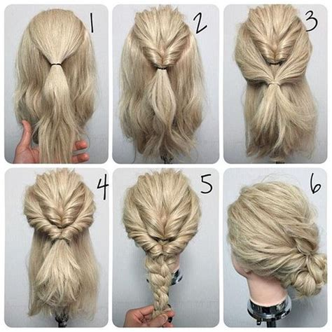 Easy Wedding Hairstyles by 11 Easy Step By Step Updo Tutorials For Beginners Hair