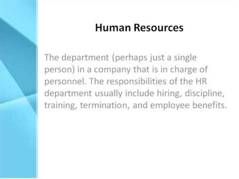 image gallery human resource department definition