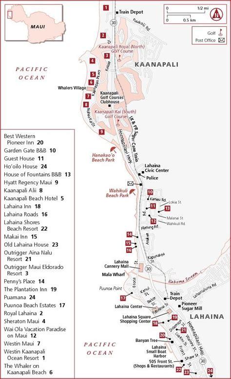 kaanapali resort map kaanapali lahaina hotel map royal lahaina resort
