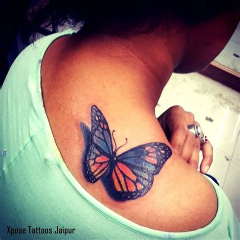 tattoo removal shops realistic 3d butterflt by xpose tattoos jaipur