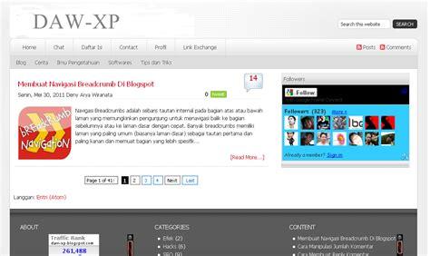 tutorial belajar xp template baru obral template lama blog seo daw xp