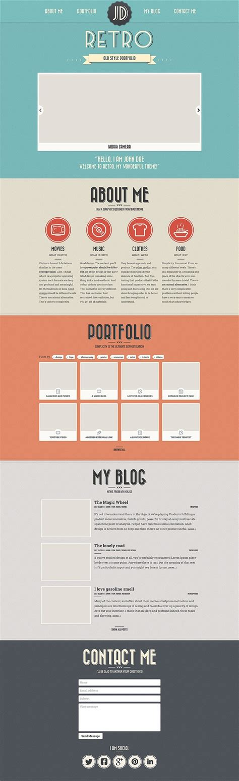 Free Portfolio Website Templates Psd 187 Css Author Portfolio Template