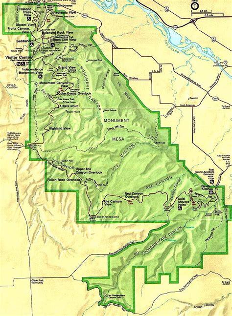 colorado national monument map colorado national monument map colorado national
