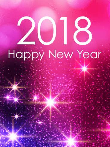 glowing 2018 happy new year blue new year fireworks card 2018 birthday greeting