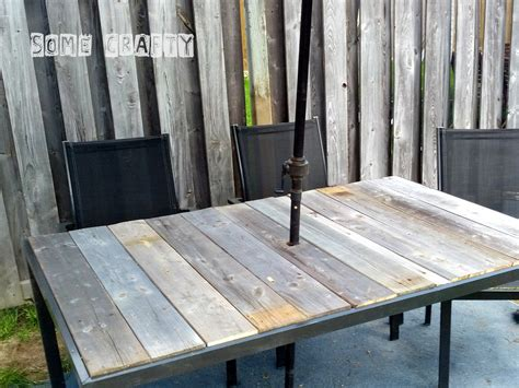 shabby chic farmhouse style outdoor table somecrafty