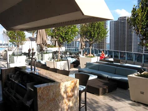 outdoor terrace bar of area 31 restaurant downtown miami florida by design design gallery