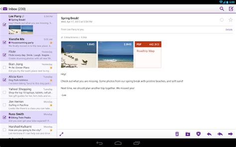 yahoo mail how to change layout yahoo mail new tablet layout android cowboyandroid cowboy