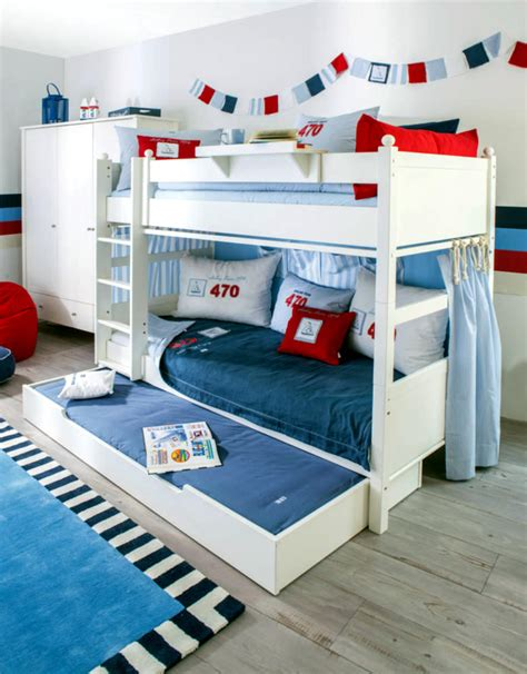 three person bunk bed bunk bed white with drawer for 3 people interior design