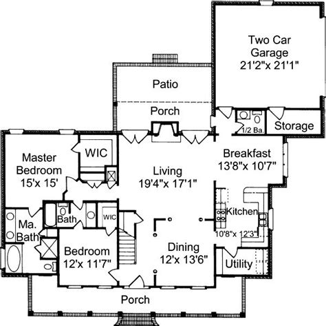 suburban house floor plan 4 bedroom 3 bath colonial house plan alp 032h