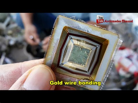 integrated circuit chip bonding gold was in electronic devices ic gold wire bonding