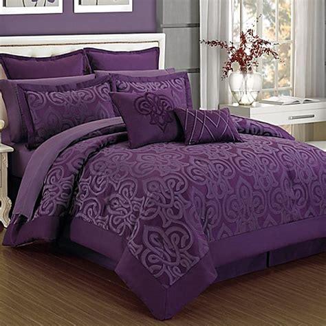 plum comforter sets curtis damask 12 piece comforter set in plum bed bath