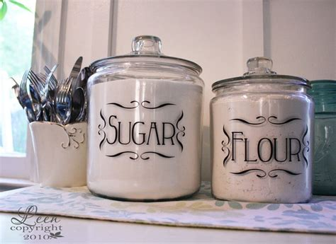 Kitchen Canister Labels Canister Labels Decals