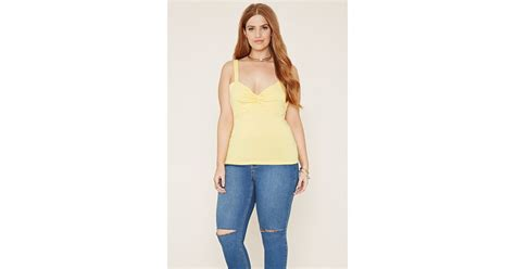 Forever 21 Top Size S 9 forever 21 plus size twisted tank top in yellow lyst