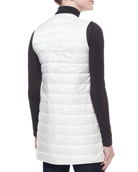 White Quilted Vest by Moncler Stripe Quilted Vest In White Lyst