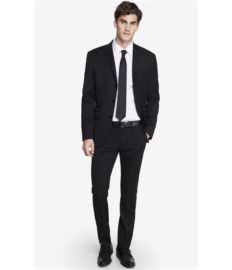 black suit express slim innovator black suit pant in black for