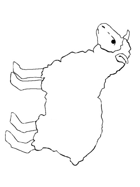 best photos of lamb outline template sheep template
