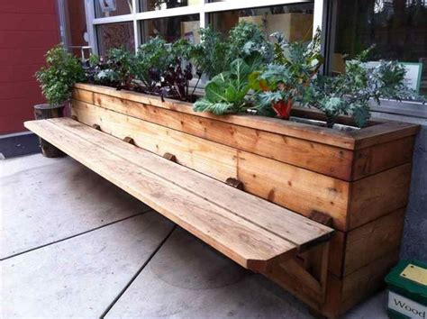 diy patio planter bench patio bench with planters beautiful on best 25 planter