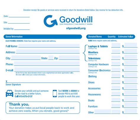 tax deductible donation form template 9 donation receipt templates free sles exles format