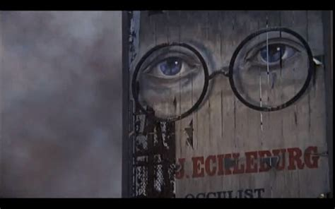 billboard symbolism in the great gatsby the eyes of doctor t j eckleburg are blue and gigantic
