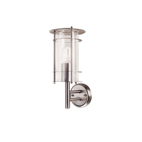 Stainless Steel Garden Lights Outdoor Lighting Prague Outdoor Wall Light In Stainless Steel From Elstead Lighting