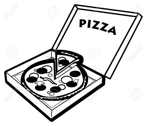 pizza clipart black and white pizza clipart black and white clipartion