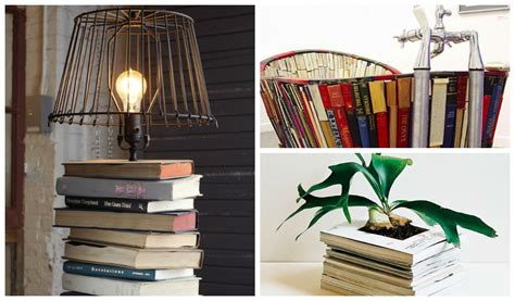20 creative ideas and diy projects to repurpose old furniture 20 repurposed diy vintage books ideas gift ideas