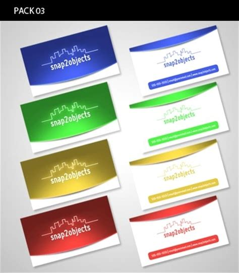 business card template pack 100 free psd business card templates