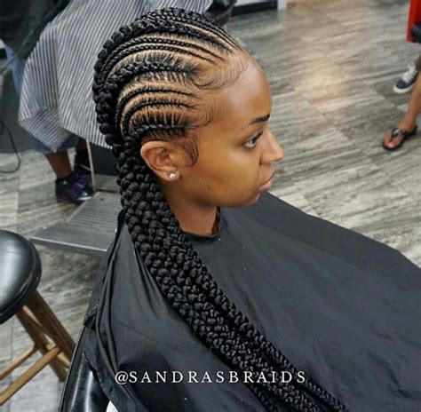 Big Braids Hairstyle by Small And Big Cornrows Hair Style Braids