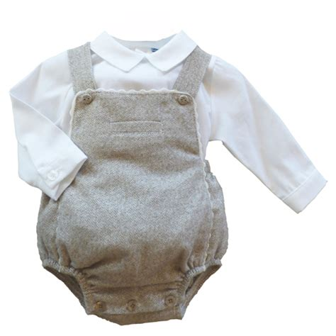 Dungarees 12 Beige abella boys dungaree romper top beige childrens outlet