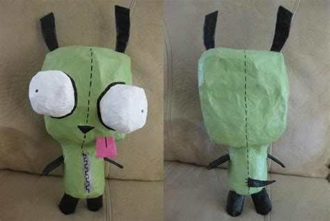 Things To Make Out Of Paper Mache - gir paper mache by coolsockssam on deviantart