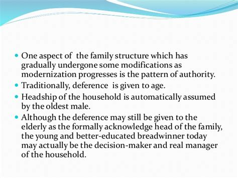 pattern of authority meaning changing structure of family