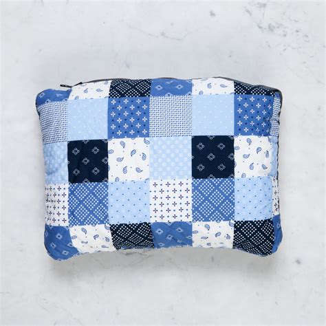 japanese patchwork convertible travel pillow in cities