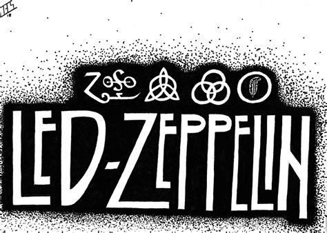 led zeppelin band logo led zeppelin hard rock classic groups bands jimmy page